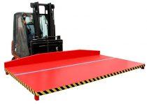 Targonca villára húzható kerítéstábla szállító adapter 2 tonna teherbírással