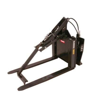 Konténerfordító, műanyag láda forgató targonca adapter 180°-os fordulattal integrált villával