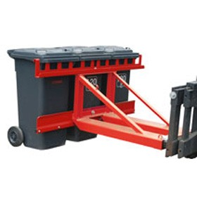 Targonca villára húzható kukaborító adapter 1, 2, 3 db 80, 120, 240 vagy 360 literes kerekes szemeteshez