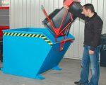 Konténerre szerelhető kukaborító adapter 120 literes szemétgyűjtőhöz