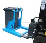 Kukafordító targonca adapter 80, 120 vagy 240 literes szemetes tartályokhoz