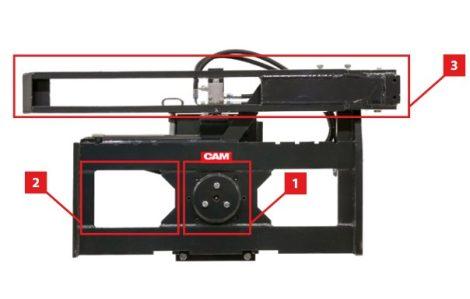 Ládafordító targonca adapter, 180 fokos fordítással