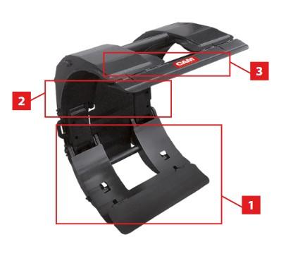 Papírhenger fogó és forgató adapter - 360°-os fordulattal