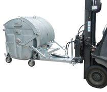 Targonca villára húzható szemetes konténer ürítő adapter, 1100 literes konténerhez