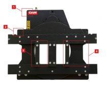 Targonca villaforgató adapter, 360 fokos forgatás, oldalmozgató nélkül